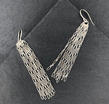 Load image into Gallery viewer, Figaro: Silver Chain Dangle Earrings