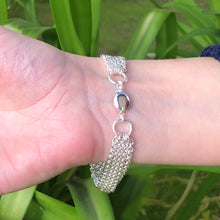 Load image into Gallery viewer, Silver Multi Strand Chain Bracelet