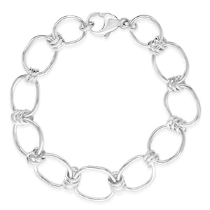 "7.5"" Large Oblong Link Chain Bracelet"