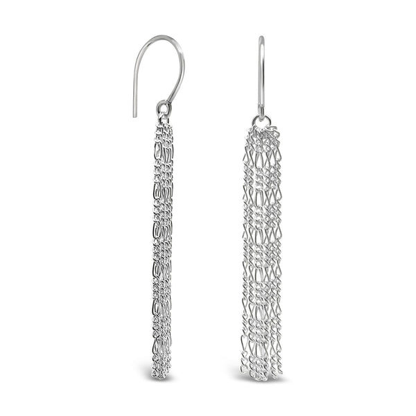 Figaro: Silver Chain Dangle Earrings