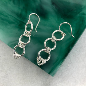 Chant: Silver Linked Dangle Earrings