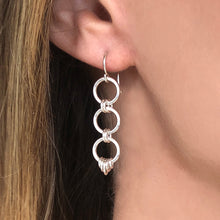 Load image into Gallery viewer, Chant: Silver Linked Dangle Earrings