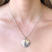Load image into Gallery viewer, Silver Domed Pendant Necklace