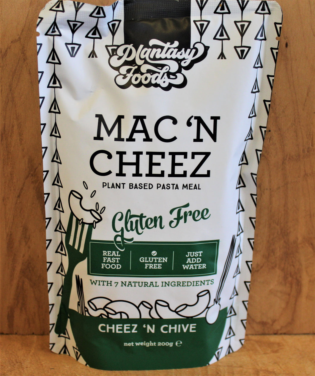 MAC n CHEEZ, PLANT BASED, PASTA MEAL, CHEEZ n CHIVE,200g