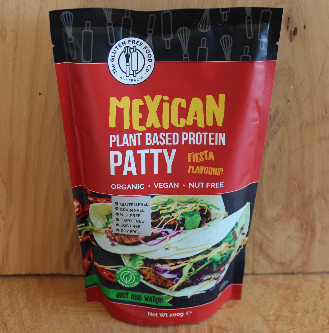 GLUTEN FREE MEXICAN PLANT BASED PROTEIN PATTY 200g