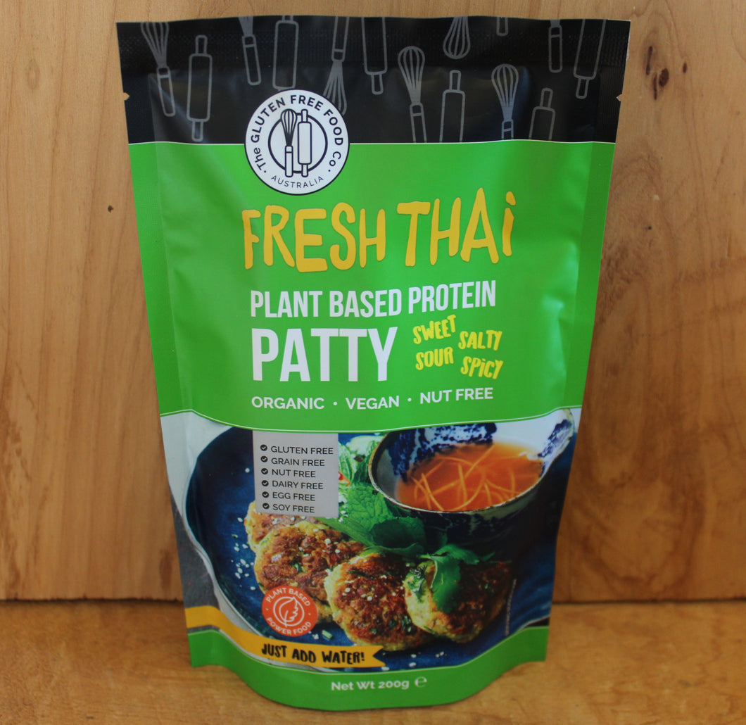 GLUTEN FREE THAI PLANT BASED PROTEIN PATTY 200g