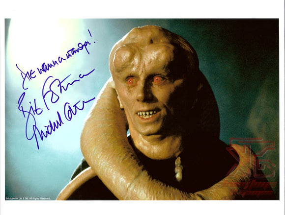 Michael Carter Bib Fortuna Signed 8x10 Star Wars Autograph Jabba's Palace COA