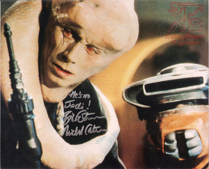 Michael Carter Bib Fortuna Signed 8x10 Star Wars Autograph Quote Boushh COA