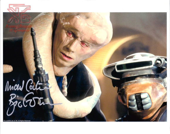 Michael Carter Bib Fortuna Signed 8x10 Star Wars Autograph Photo Boushh Leia COA