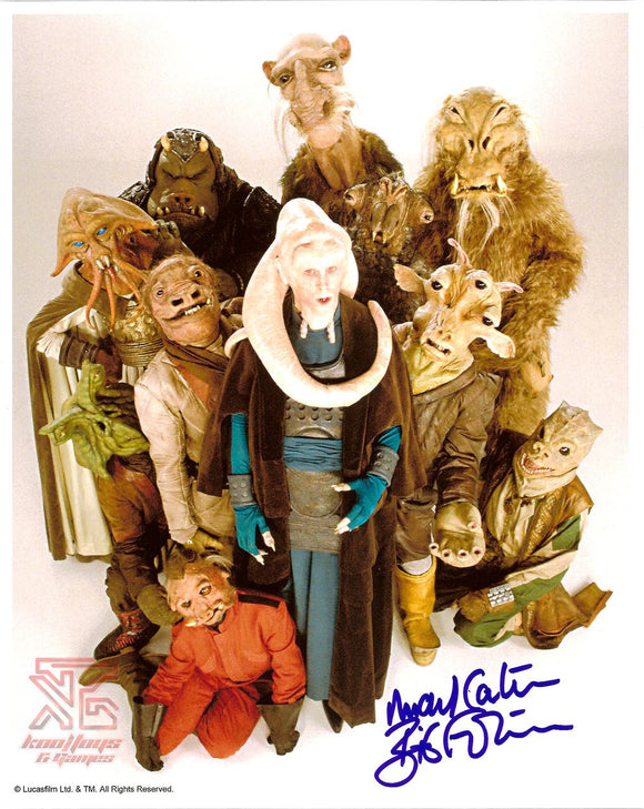Michael Carter (Bib Fortuna) Autograph 8x10 Signed Photo w/ Star Wars Aliens