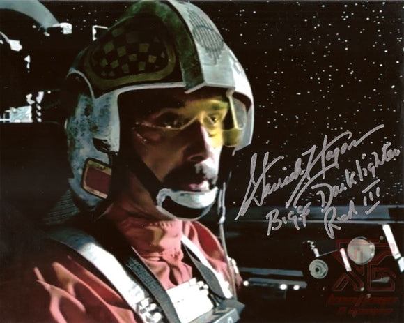 Garrick Hagon (Biggs) Signed 8x10 Star Wars Autograph Photo X-Wing Cockpit COA