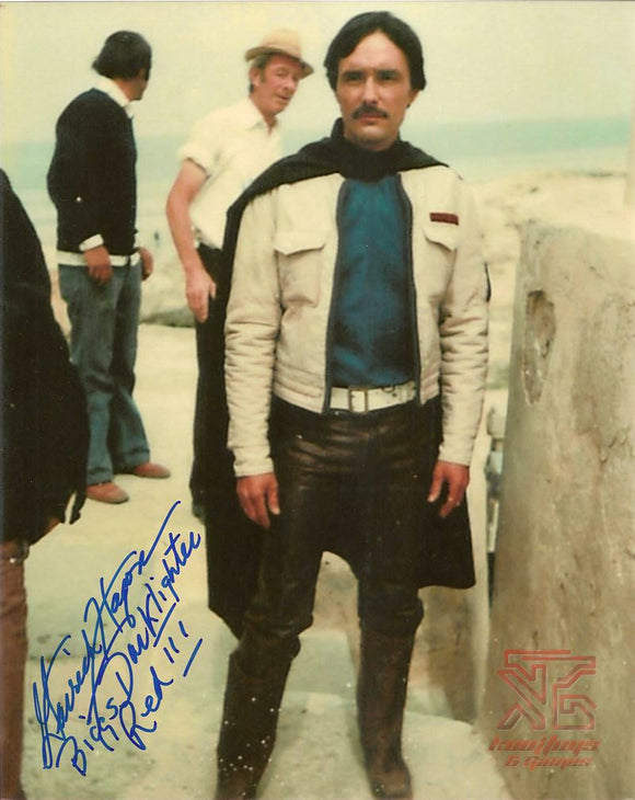 Garrick Hagon (Biggs) Signed 8x10 Star Wars Photo Autograph Deleted Scene COA