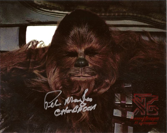 Peter Mayhew (Chewbacca) 8x10 Signed Star Wars Autograph Photo COA