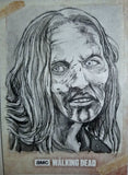 Zombie #2 The Walking Dead Road to Alexandria Sketch Card Neil Camera Topps 1/1