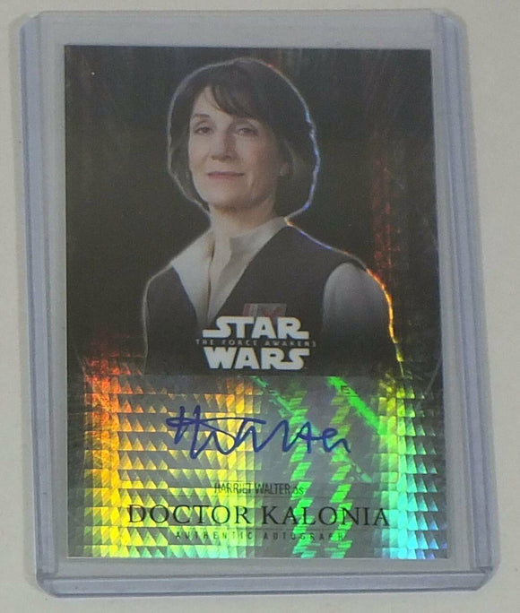 Harriet Walter Autograph Card Star Wars Force Awakens Prism Refractor #14/50
