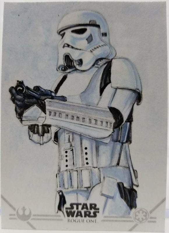 Storm Trooper Artist Sketch Card Neil Camera Star Wars Rogue One 2016 Topps