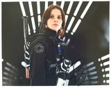 Felicity Jones Signed Autograph Star Wars Rogue One 8x10 Photo