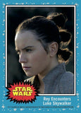 Rey Encounters Luke Skywalker Topps Now #1 Countdown Star Wars Last Jedi Card