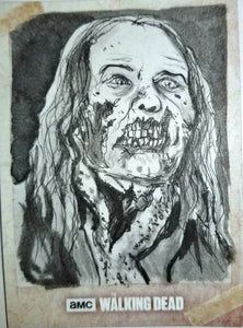 Zombie #1 The Walking Dead Road to Alexandria Sketch Card Neil Camera Topps 1/1