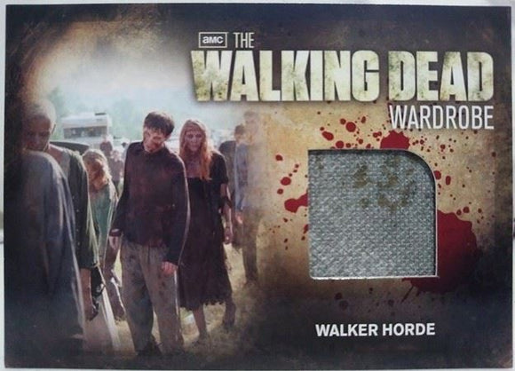 Walker Horde Walking Dead Wardrobe Season 2 Trading Card 2012 #M30 Cryptozoic