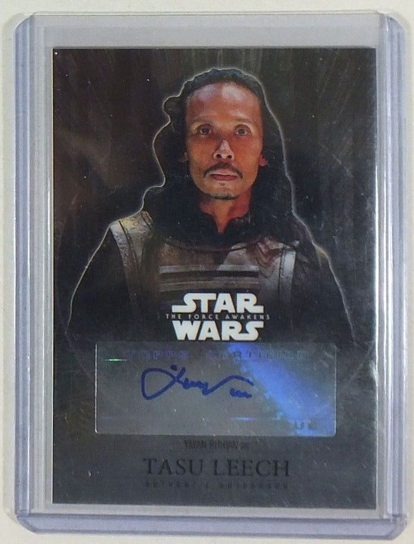 Yayan Ruhian as Tasu Leech Autograph Card Star Wars Force Awakens Chrome  Topps