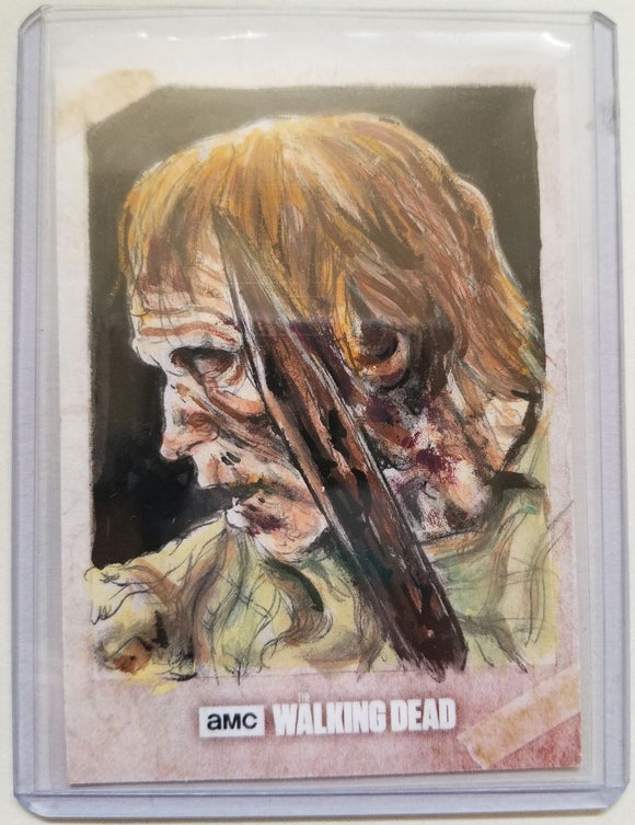 Walker #2 The Walking Dead Evolution Sketch Card Neil Camera Topps 1/1