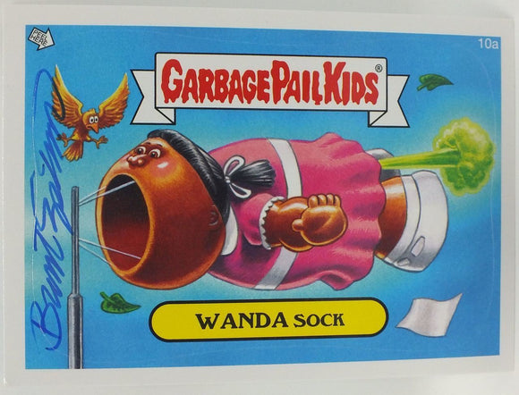 Wanda Sock #10a Garbage Pail Kids Sticker Trading Card Signed by Brent Engstrom