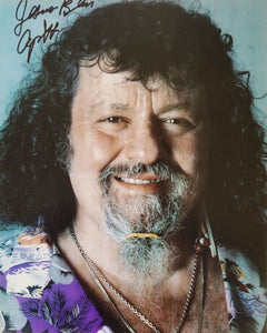 """Jesus Bless"" Captain Lou Albano Signed WWF 8x10 Photo"