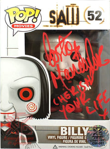 Billy SAW Funko Pop! Figure Signed by Costas Mandylor 'Cherish Your Life' LE/52