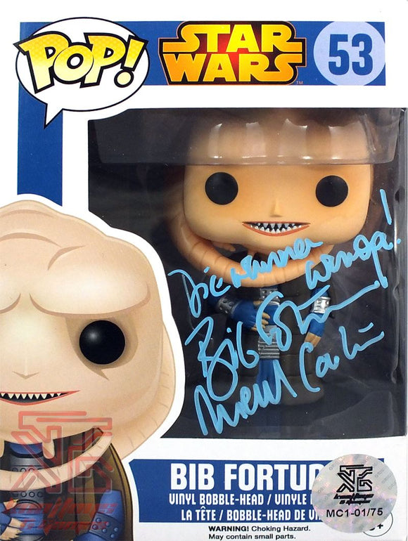 Bib Fortuna Pop! Signed Michael Carter Star Wars Funko Figure LE #75/75 COA