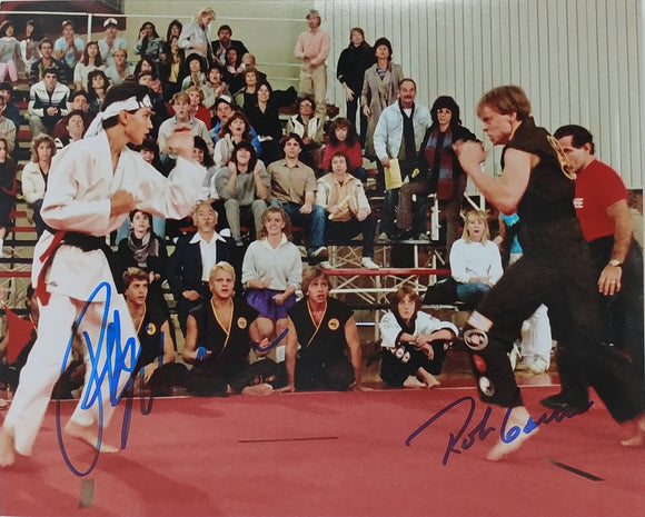 Ralph Macchio / Rob Garrison Dual Autographed 8x10 Photo - Karate Kid