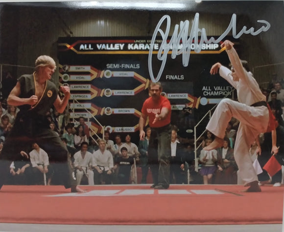 Ralph Macchio Autographed 8x10 Photo - Karate Kid Crane Kick w/