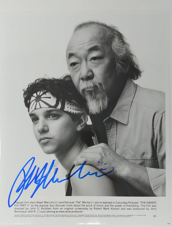 Ralph Macchio Autographed Karate Kid II 8x10 Press Photo 1989 Mr Miyagi Headshot