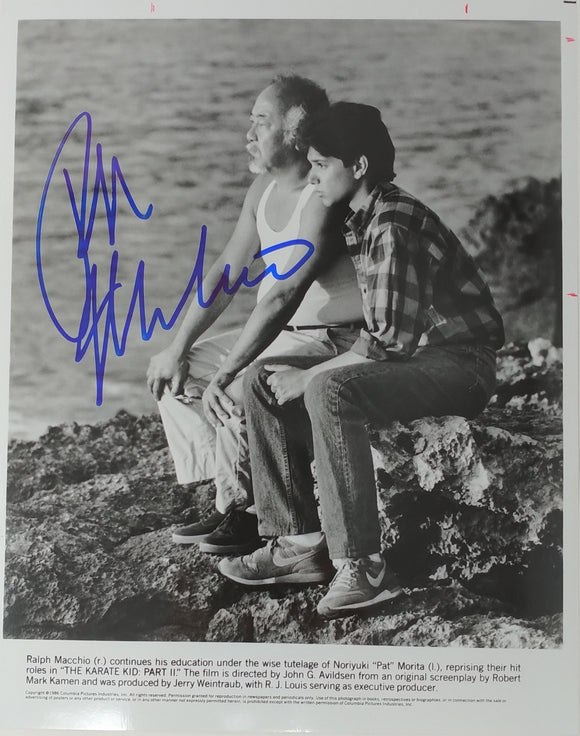 Ralph Macchio Autographed Karate Kid II 8x10 Press Photo 1986 Mr Miyagi