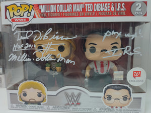 """Million Dollar Man"" & I.R.S. WWE Funko Pop 2-Pack Signed by Ted Dibiase & Mike Rotunda"
