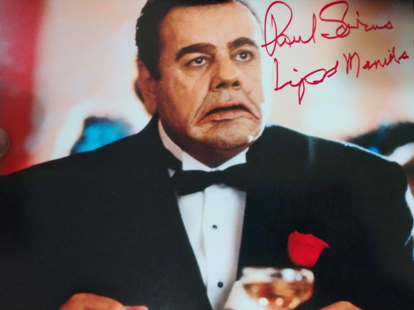 Paul Sorvino Signed Lips Manlis 8x10 Dick Tracy Photo