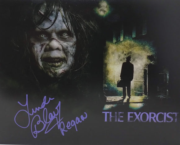Linda Blair Signed The Exorcist 8x10 Photo 01