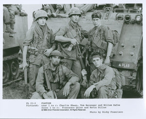 "Kevin Dillon ""Platoon"" Cast Signed B/W Photo"
