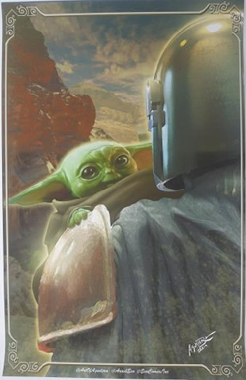 The Child (Baby Yoda) 11x17 Star Wars Mandaloran Lithograph Poster Print