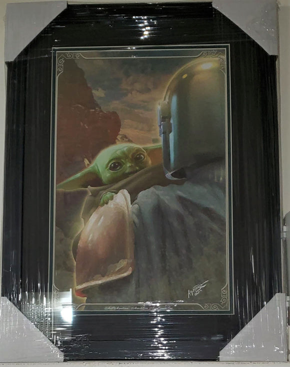 The Child (Baby Yoda) 11x17 FRAMED Star Wars Mandaloran Lithograph Poster Print