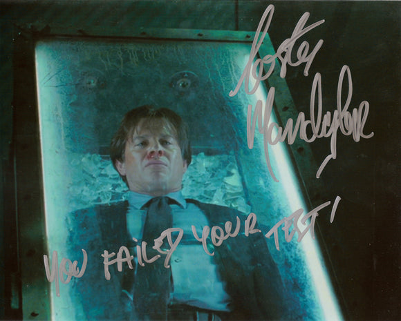 Costas Mandylor SAW V Signed Coffin Trap 8x10 Photo You Failed Your Test