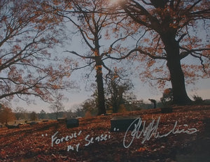 Ralph Macchio Bowing At Miyagi Grave Signed 8x10 Photo Forever My Sensei