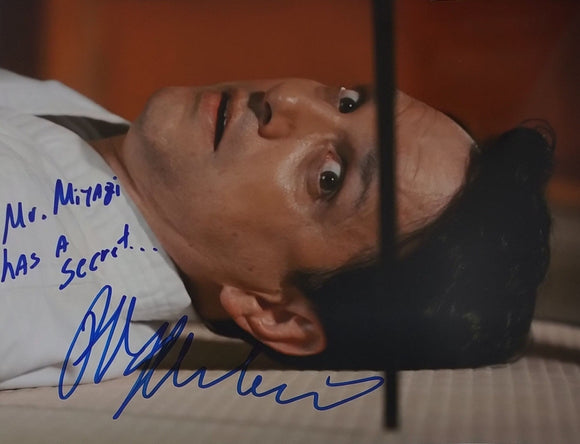 Ralph Macchio Signed Cobra Kai Season 3 8x10 Photo 'Mr. Miyagi Has A Secret' COA