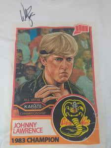 William Zabka Johnny Lawrence Shirt Autographed Signed Karate Kid Cobra Kai COA