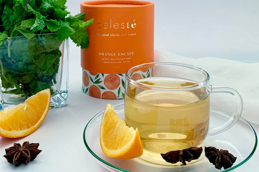 With ingredients such as Moroccan mint, cocoa nibs and goji berries, CelesTe offers artisanal tea blends