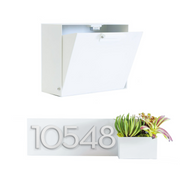 Cubby Wall-Mounted Mailbox + Planter Bundle