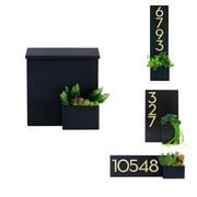 Greetings Wall-Mounted Mailbox + Planter Bundle