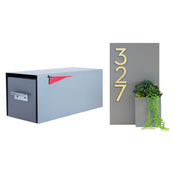 Malone Post-Mounted Mailbox + Planter Bundle