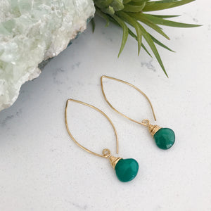 Dew Drop Earrings - Large Stone