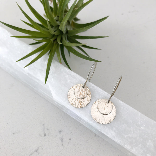 Silver Eclipse Earrings